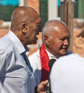 Maori Kaumatua Barney Thomas & Rev Andy Joseph