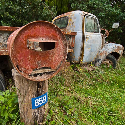 Westhaven Inlet, Golden Bay: not a truck, a work of art