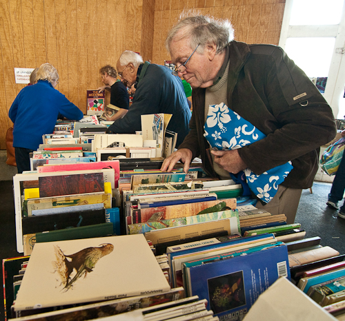 readers at Nelson's Founders Heritage Park Book Fair