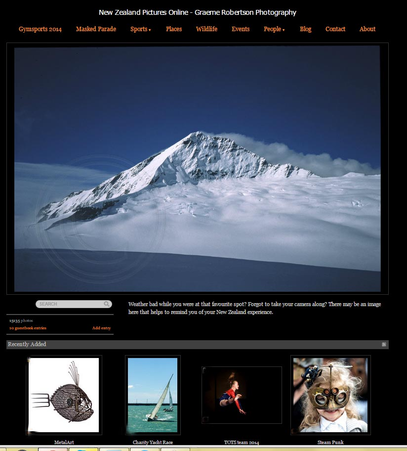 gallery home page